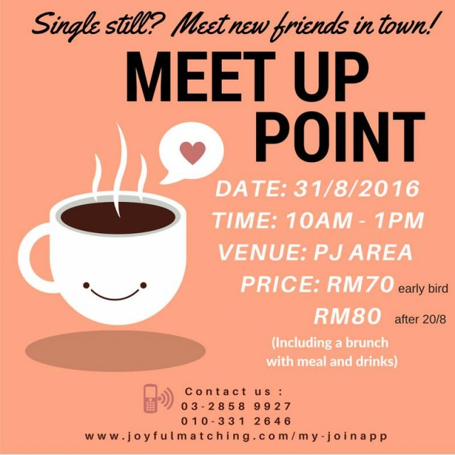 Christian Singles Meetup Point at 31/8